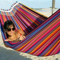Indigo hammock in authentic colors from the Mayan culture