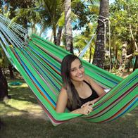 Hammock in colorful fabric - Mexico Green - Great for a person