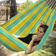 Hammock Ceara checked with yellow-green fabric