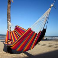 Formosa Grande hammock in the rainbow colors and the hammock are designed for many people