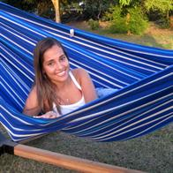 Bluish hammock in strong durable fabric. No. FM540