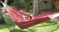Formosa Hammock in highly colorful fabric. Good for play and relaxation