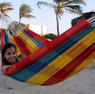 Classical Brazilian hammock in Fabric with charming retro look