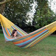 Family hammock EXTRA in durable cotton net with color combinations. No. G6