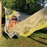 Double green fabric hammock with exclusive border
