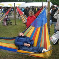 Coated cotton hammock from Mexico in an extreme big and wonderful size. No. C7