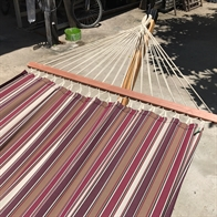 Mocca Outdoor fabric hammock with 120 cm wooden spreader bars PRO. No. TTQp558/120