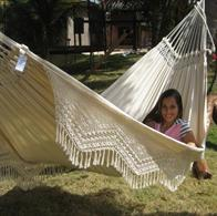 Decorative lifestyle fabric hammock with beautiful edgings. BR401 / 85406