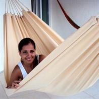 Outdoor Fabric Hammock PRO 1 persons - Solid Color Beige