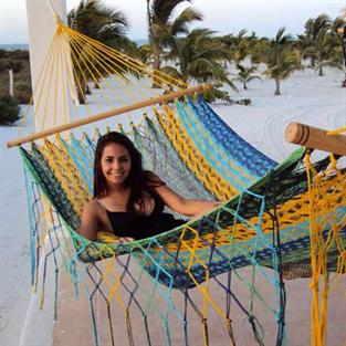 American hammock ANA with spreader bars and Thick Cord in Colorful design
