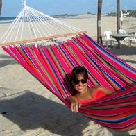 Mexico Pink hammock with 118 cm spreader bars