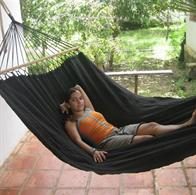 Trendy Black Outdoor Hammock. Outdoor black Fabric hammock with 120 cm quality spreader bars