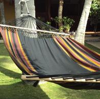 Rio Preto Fabric hammock with spreader bars of 140 cm