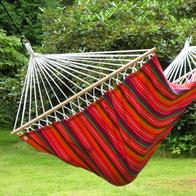 GuatemalaMix Hammock in fabric with width wood sticks of 140 cm