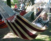 Montana Hammock Nicaragua. NI-18 Montana hammock in soft cotton and thick cord. Smoothly handcrafted.