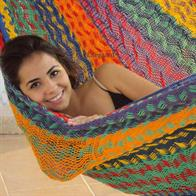 One Size Hammock in Thick Cord Cotton from Mexico. One