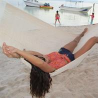 Natural white hammock from Mexico in fine cotton
