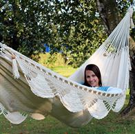 Mountain hammock in net with decorative handicrafts